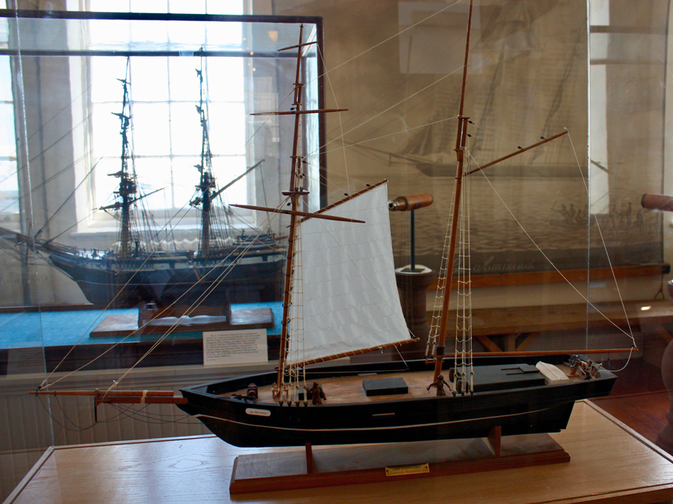 model of the Amistad, Custom House Maritime Museum, New London, Connecticut