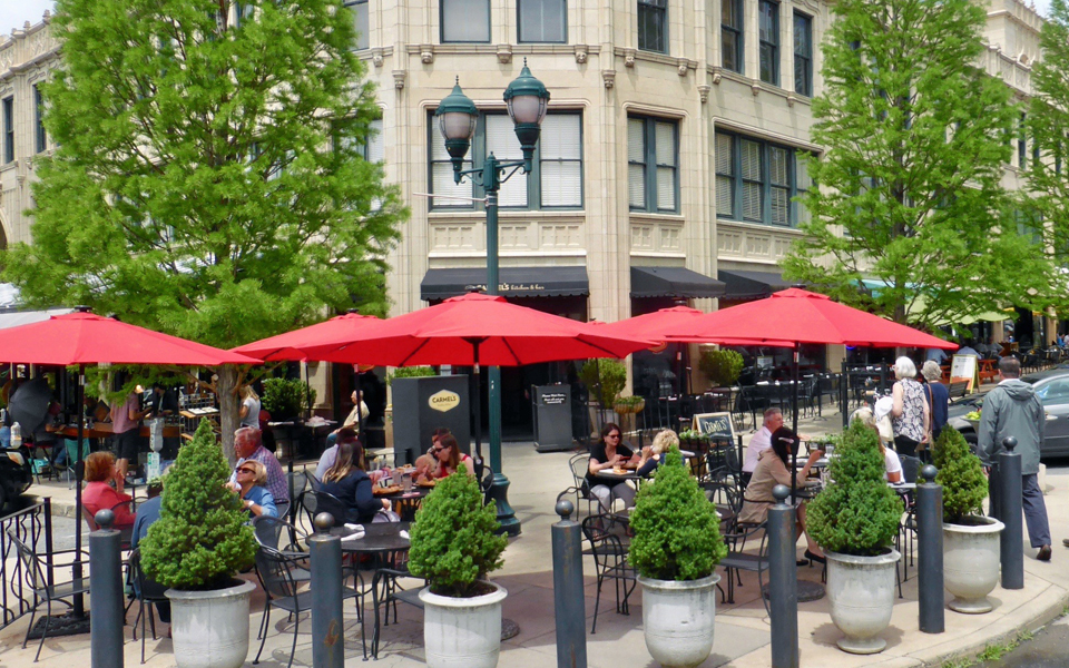 Carmel's Kitchen & Bar in the historic Grove Arcade, Asheville