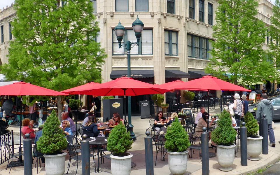 Carmel's Kitchen & Bar in the historic Grove Arcade, Asheville