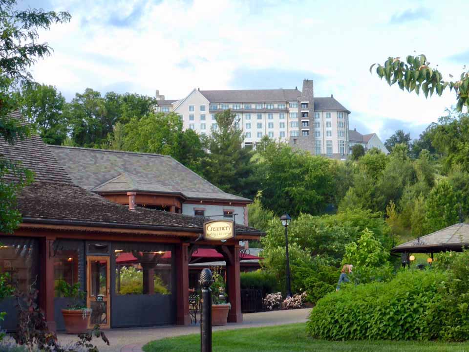 The Creamery at Antler Hill Village (foreground), The Inn at Biltmore (background), Asheville, North Carolina
