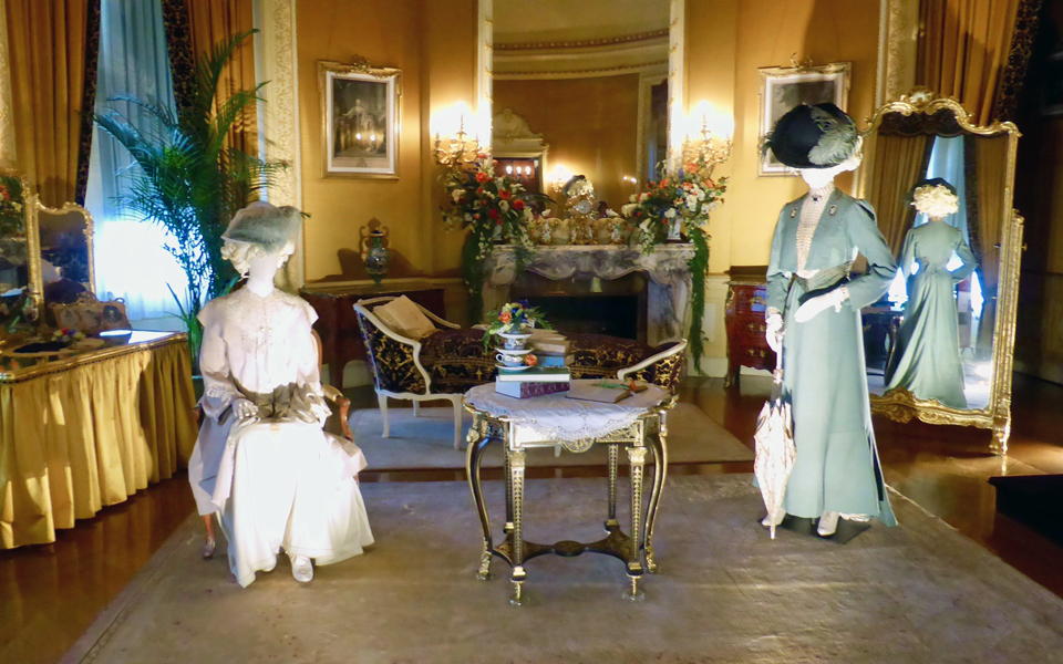 House of Mirth costumes on display at Biltmore House