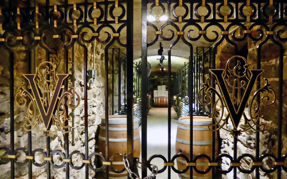 gate to the Vanderbilt wine library