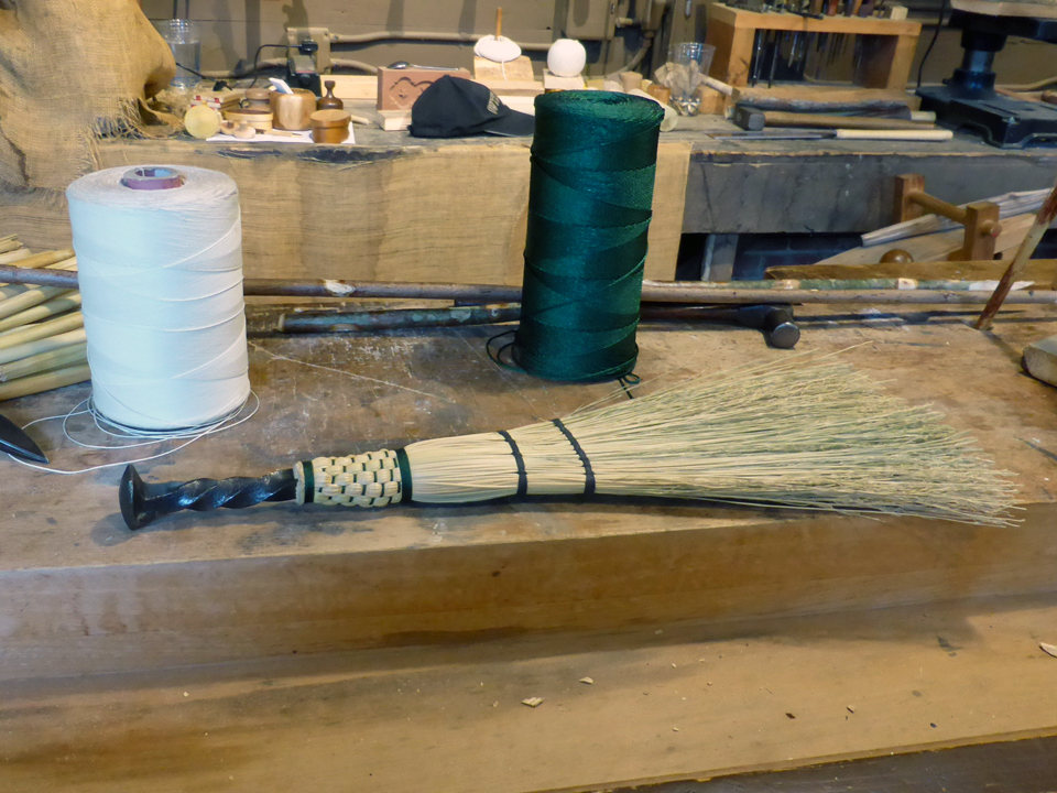 broom making, Biltmore, Asheville, North Carolina