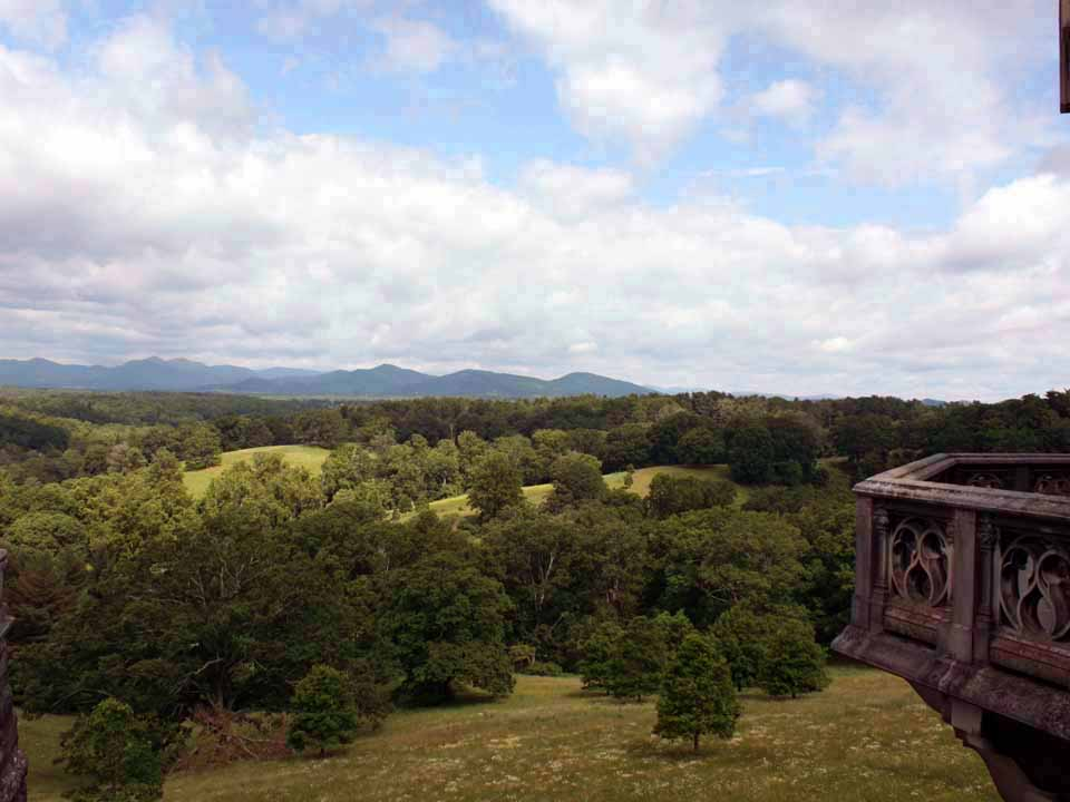 view from Biltmore House, Aheville, North Carolina