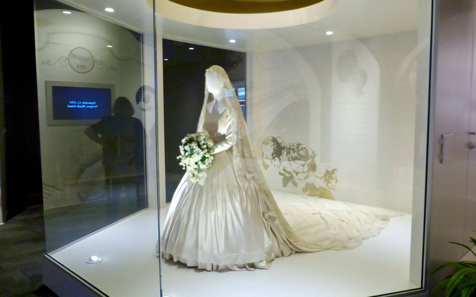 wedding gown and veil, The Biltmore Legacy at Antler Hill Village