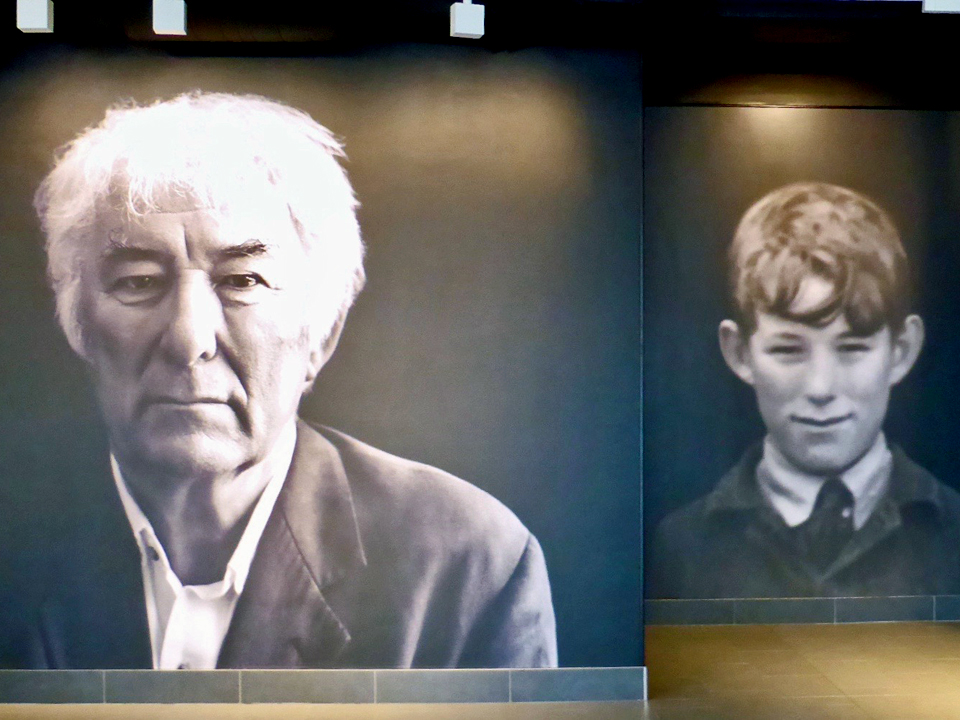 Seamus Heaney Man and Boy, Seamus Heaney HomePlace, Bellaghy, Northern ireland