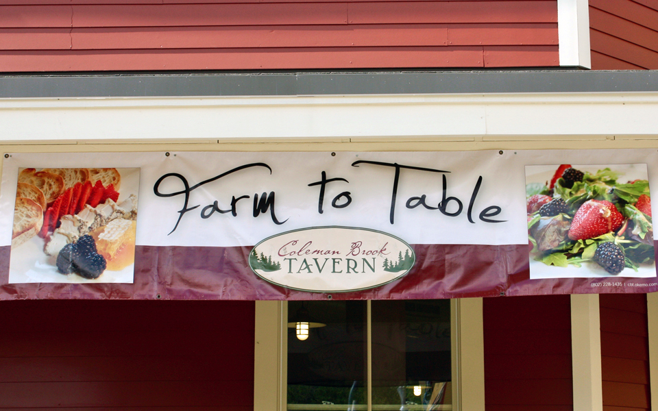 The Farmhouse Dinner Series at Jackson Gore Inn's Coleman Brook Tavern Nota