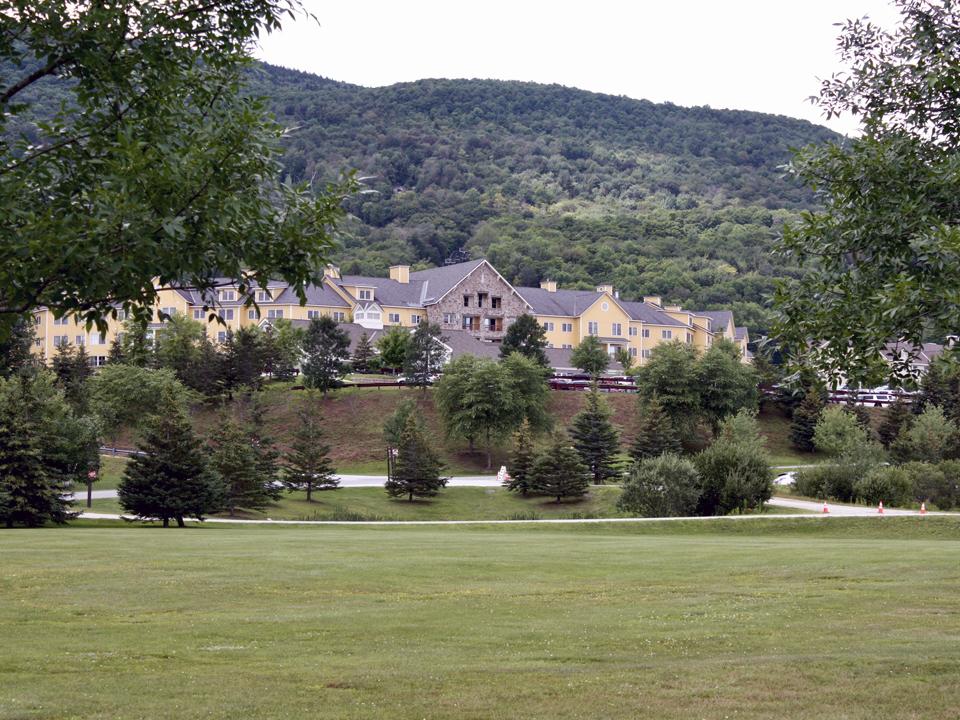 Jackson Gore Inn, Trapp beer, Hops in the Hills, Jackson Gore Inn courtyard, Okemo Mountain Resort, Vermont