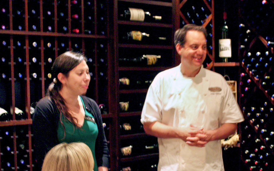 Executive Chef Jason Tostrup and his sommelier, Coleman Brook Tavern, Jackson Gore Inn, Okemo Mountain Resort