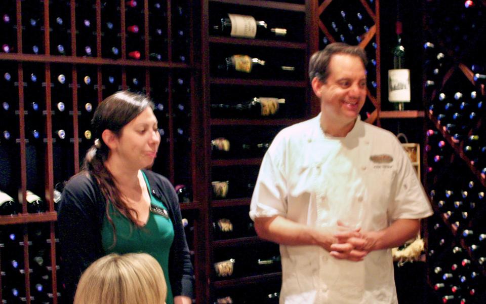 Executive Chef Jason Tostrup and his sommelier, Coleman Brook Tavern, Jackson Gore Inn, Okemo Mountain Resort