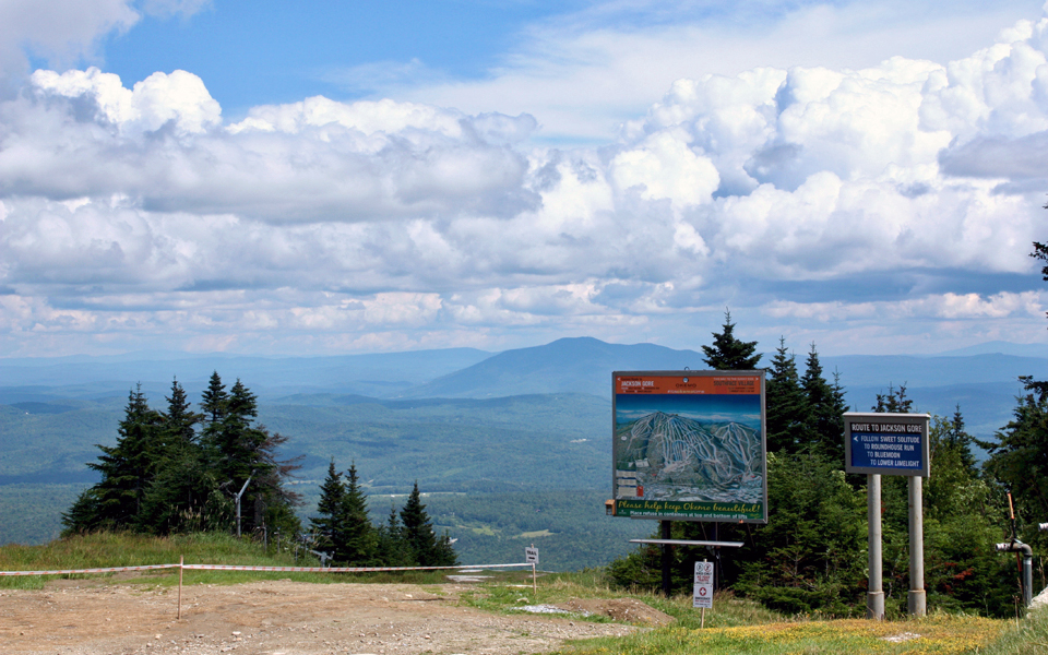 Summit routes to Jackson Gore, Okemo Mountain Resort
