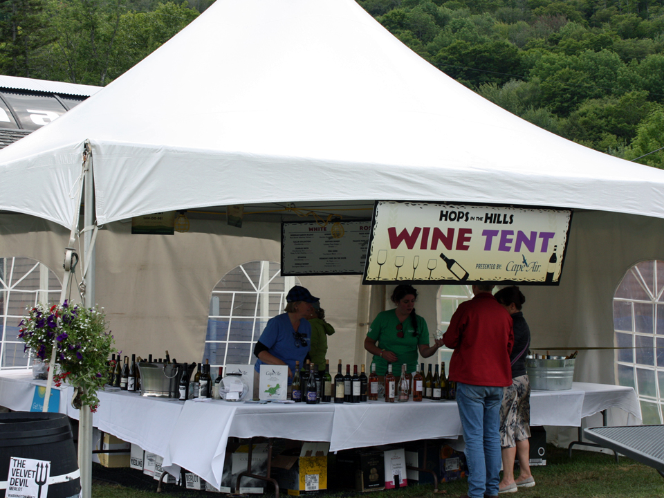 wine tent wine Hops in the Hills Jackson Gore Inn courtyard Okemo & Hops in the Hills Beer u0026 Wine Festival at Okemo Mountain Resort ...
