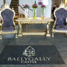 Ballygally Castle foyer, Coastal Causeway, Northern Ireland