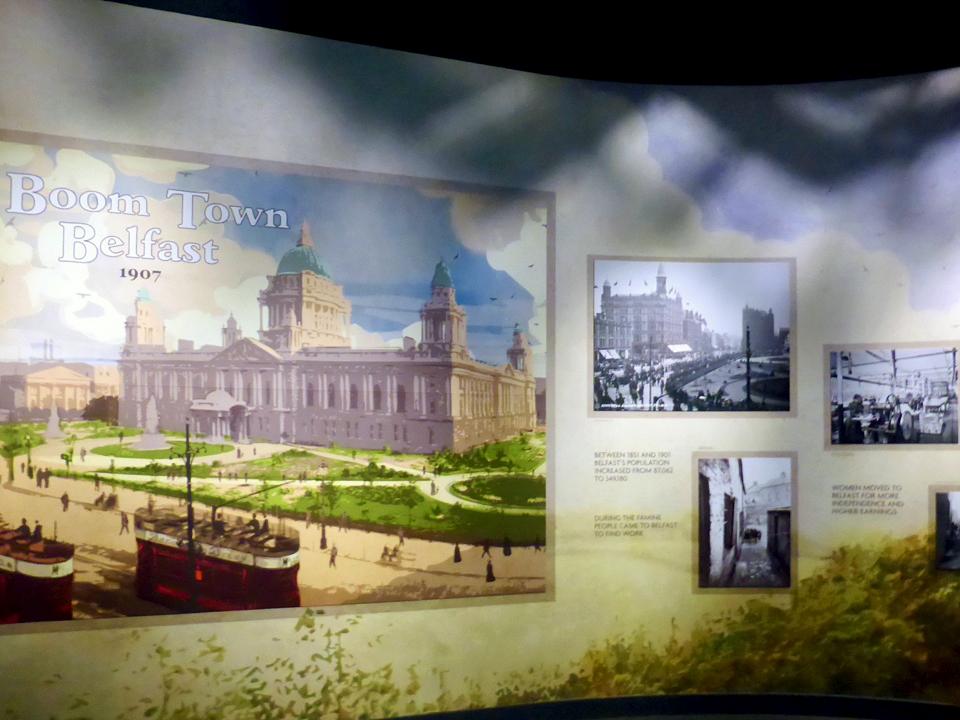 Boom Town display at Belfast at Titanic Belfast