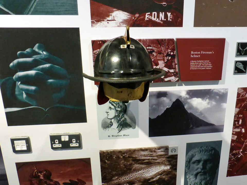Boston helmet, Seamus Heaney HomePlace, Northern Ireland