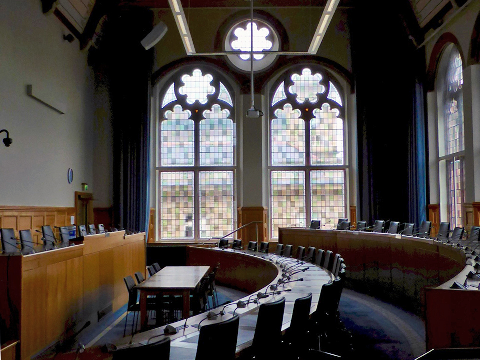 Council chamber in the Guild Hall, Londonderry