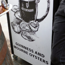 Guinness and oysters, Mourne's Seafood, Belfast, Northern Ireland
