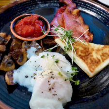 Irish cooked breakfast at Bishop's Gate Hotel, Londonderry