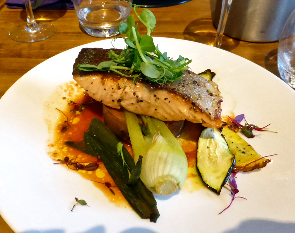 salmon at Ballygally Castle, Northern Ireland