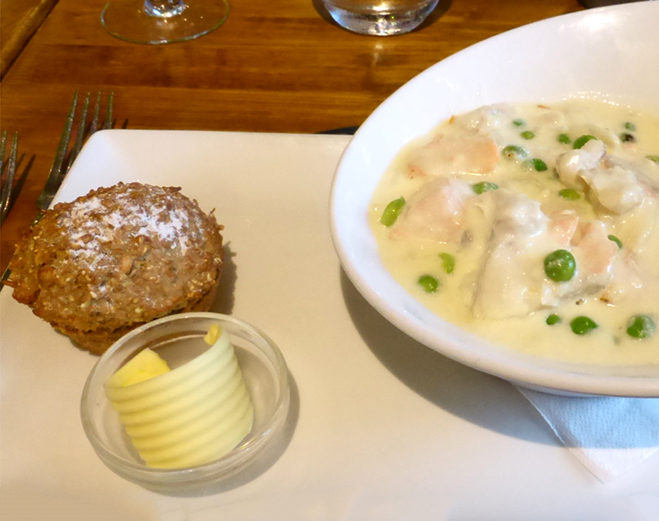 seafood chowder, a meal in itself, Ballygally Castle, Northern Ireland