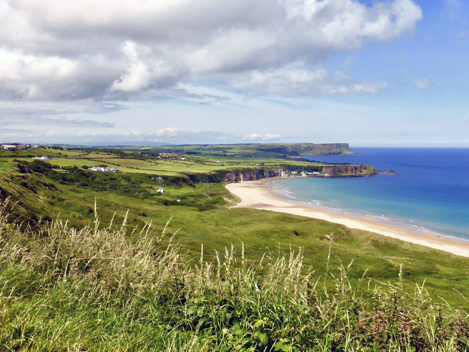 White Bay Park Viewpoint overlooking Portbradden, Northern Ireland