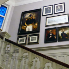 dog art in stairway, Bishop's Gate Hotel, Londonderry