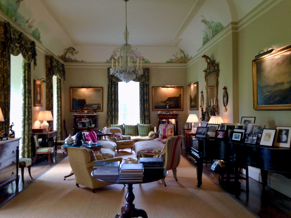 portraits on the piano, Glenarm Castle, Northern Ireland