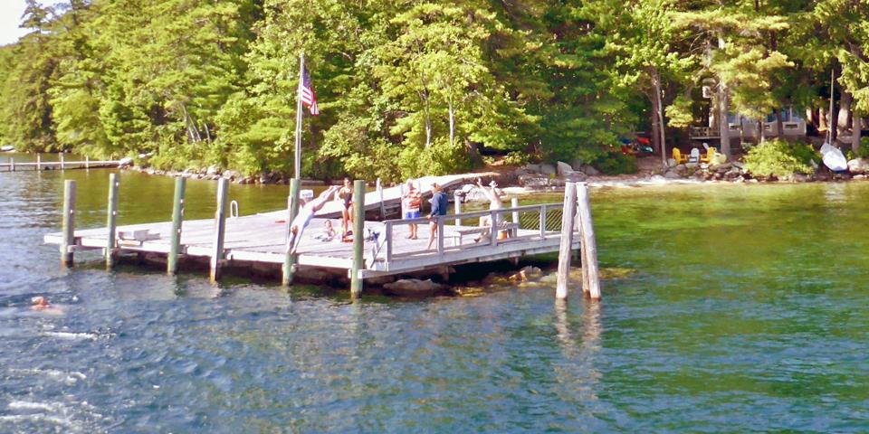 mail boat dive, Lake Winnipesaukee, NH