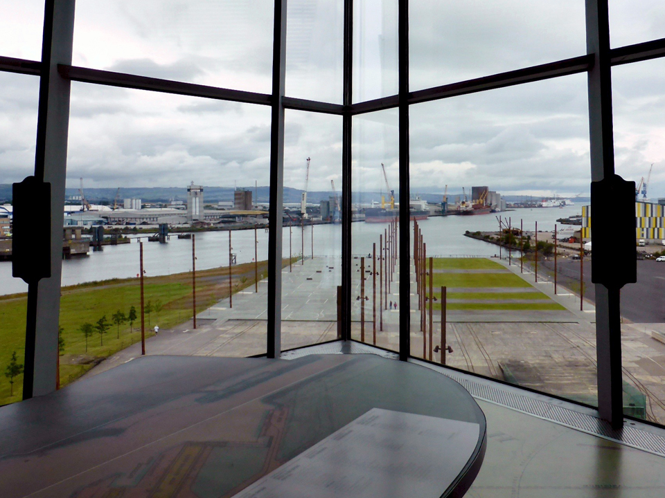 shipyard, seen from Titanic Belfast