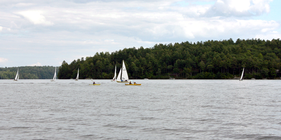 boats on Squam Lake, Holderness, NH