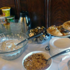 cold breakfast buffet, The Manor on Golden Pond, Holderness, NH