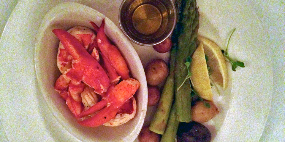 lobster dinner, lazy style, The Point, Black Point Inn, Scarborough, Maine