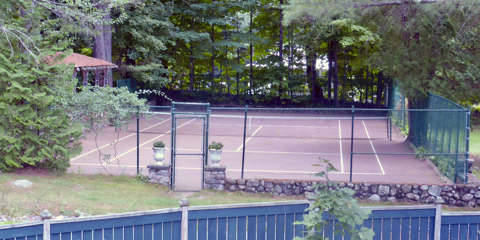 tennis court, The Manor on Golden Pond, Holderness, NH