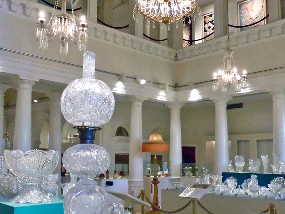 American Brilliant Cut Glass Room, Lightner Museum, St. Augustine, FL