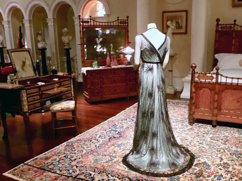 Lady Mary's green silk evening dress, Lightner Museum, St. Augustine, FL