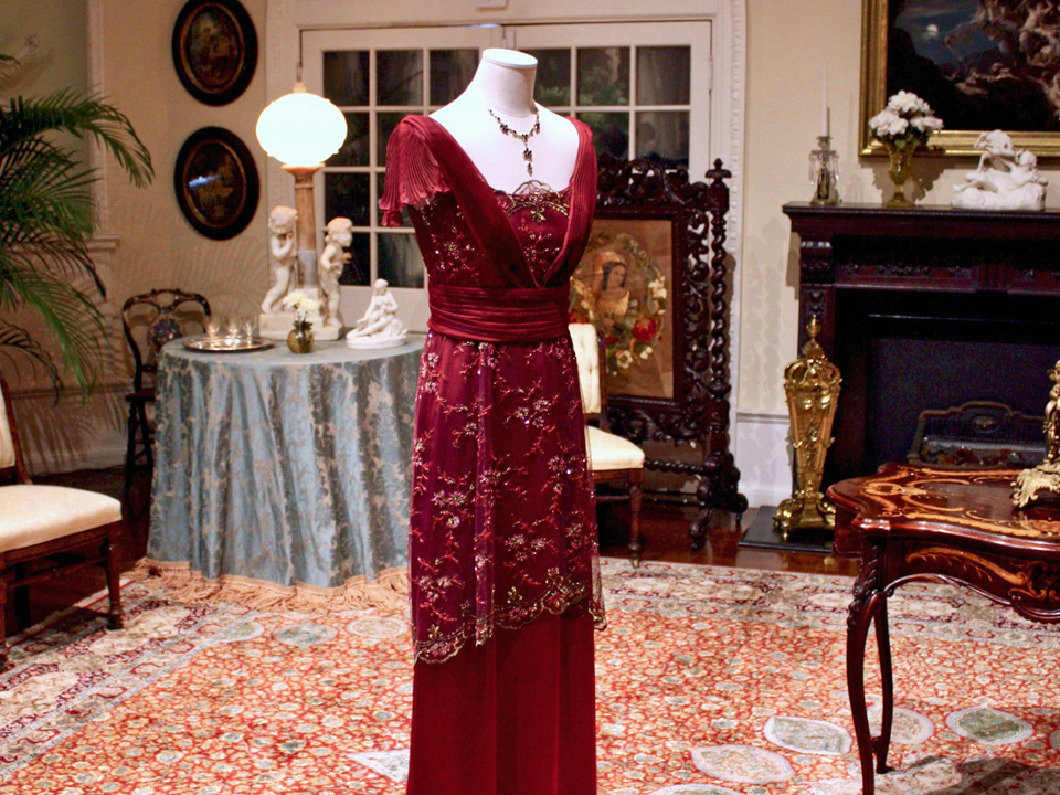 Lady Mary's red dress, Lightner Museum, St. Augustine, FL