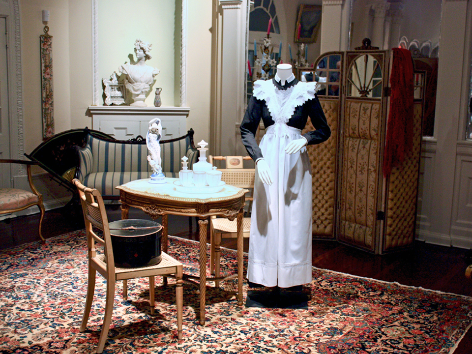 Lady's maid uniform, Lightner Museum, St. Augustine, Florida