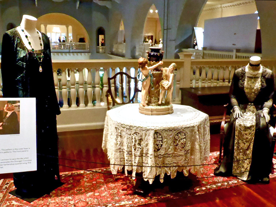 Martha Levinson's Art Deco dress and Dowager Countess' dress, Lightner Museum, St. Augustine