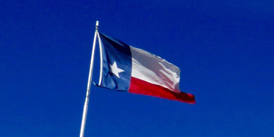 Texas flag on rooftop of St. Anthony Hotel, St. Antonio