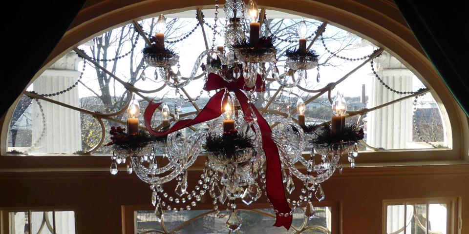 chandelier, Linden Place, Bristol, Rhode Island