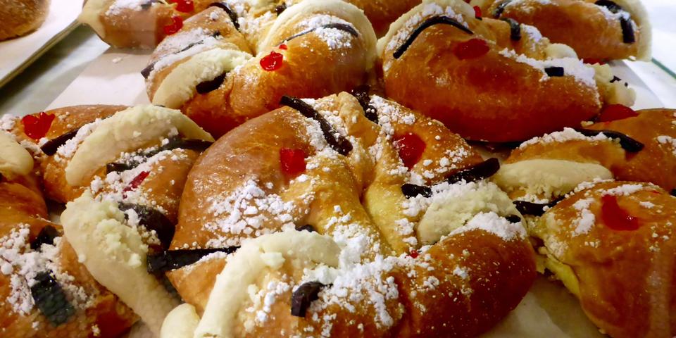 rosca de reyes pastry at La Panaderia, San Antonio