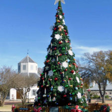 Christmas tree at Marktplatz, Fredericksburg, Texas