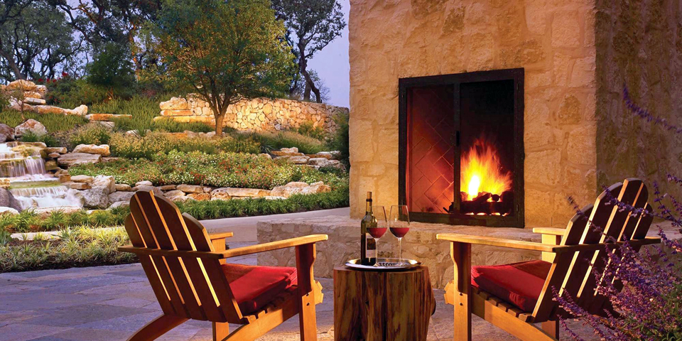 back porch fireplace, JW Marriott San Antonio Hill Country Resort & Spa Photo courtesy JW Marriott San Antonio Hill Country Resort & Spa