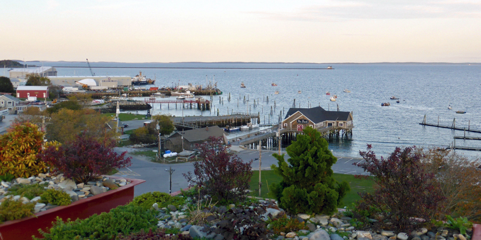 view from rooftop deck, 250 Main, Rockland, Maine