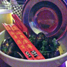 coconut curried mussels, Cafe Miranda, Rockland, Maine