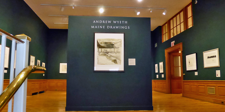 Andrew Wyeth exhibit, Farnsworth Museum, Rockland, Maine