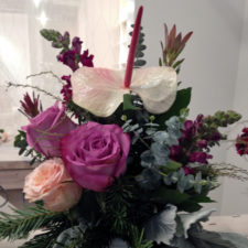 flower arrangement side 1, Vintage Bouquet Bar