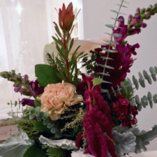 flower arrangement side 2, Vintage Bouquet Bar
