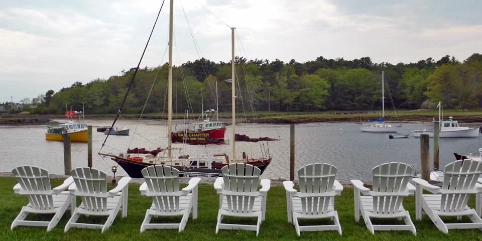 Adirondack chairs, Nonantum Resort, Kennebunkport, Maine