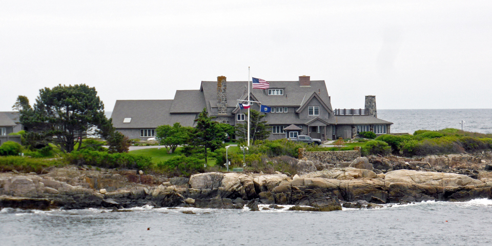 President George H. W. Bush's summer home at the Bush compound, Kennebunkport, Maine